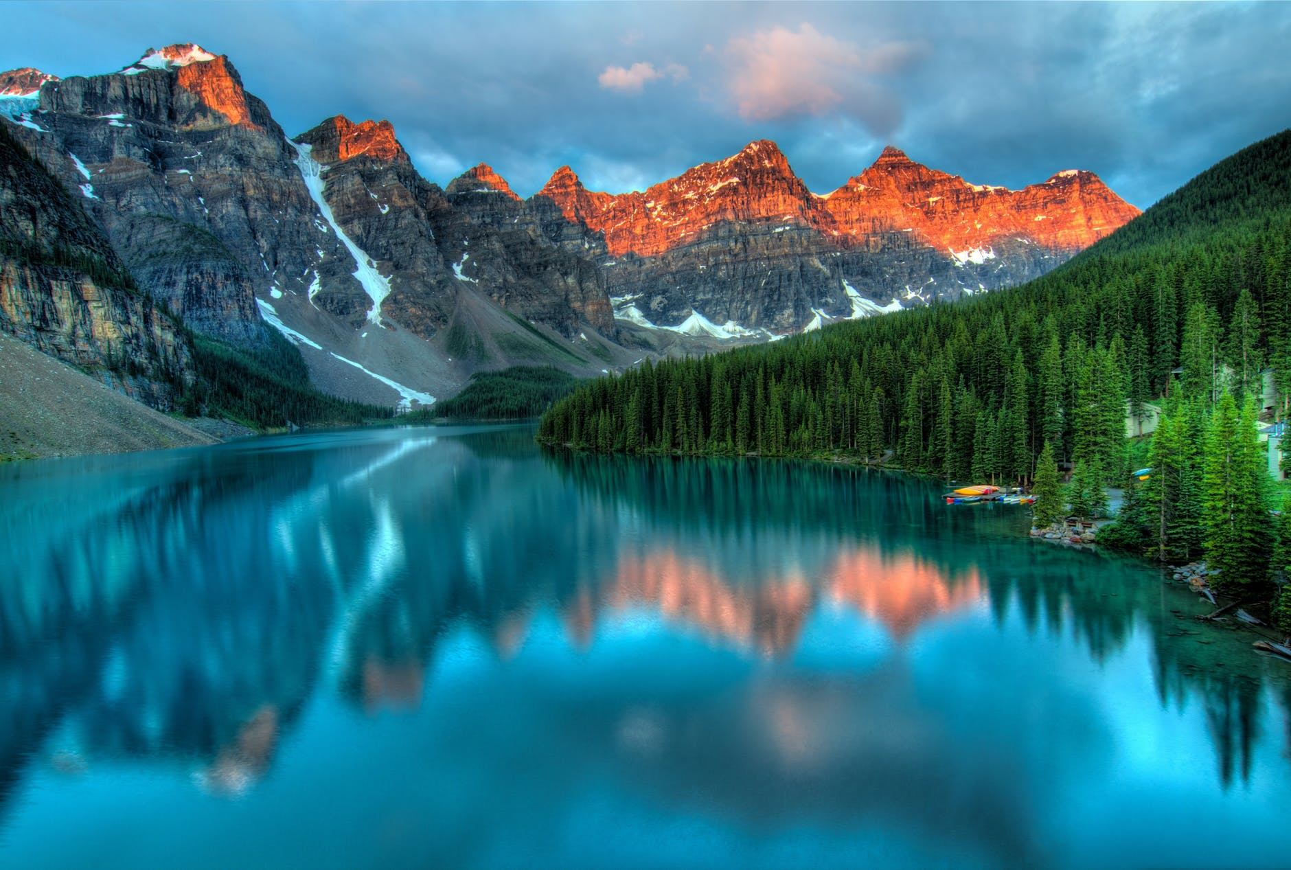 Beautiful landscape will become a part of your everyday life after moving to Canada.