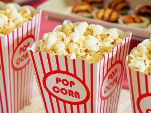 a bag of popcorn