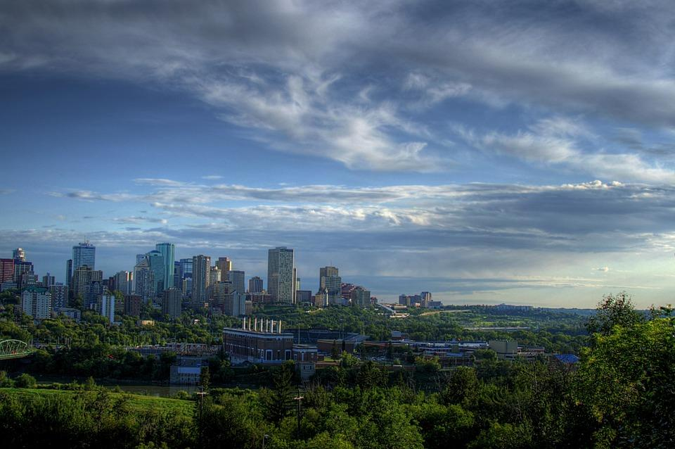 Enjoy the city view after moving to Edmonton