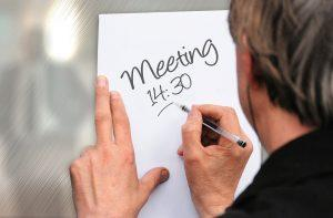 setting up a meeting