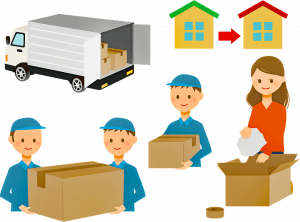 packing and moving boxes