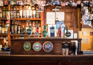A great variety of beers in one of the best cheap bars in Toronto