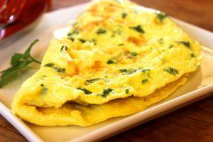 a plate of omelet